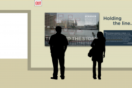 TECO storm display mockup with silhouettes
